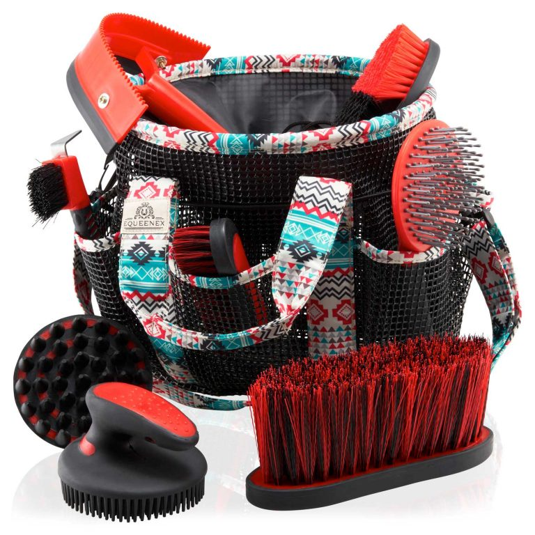 Horse Grooming Kit – All In One Equestrian Cleaning Set - Green