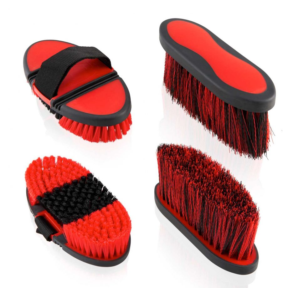 Horse Grooming Kit – All In One Equestrian Brush Set - Brown